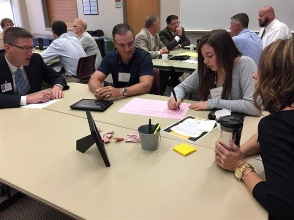Group working on High School Visioning