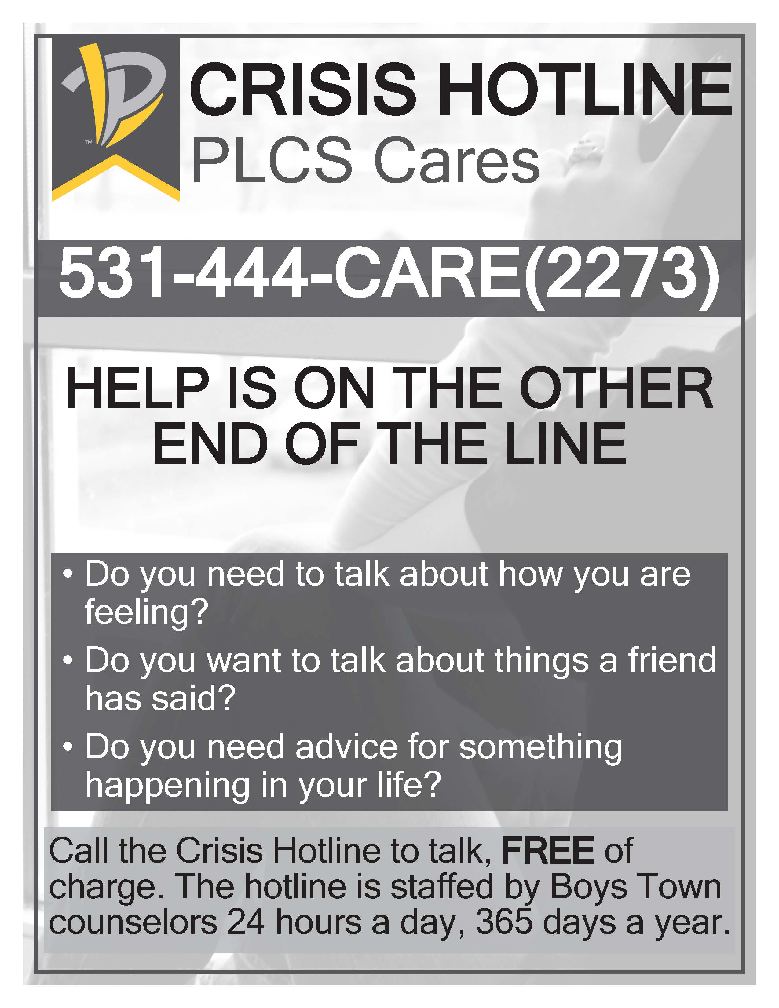 Crisis Hotline Poster