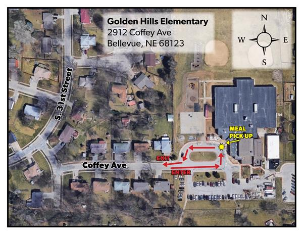 Map of Golden Hills Elementary
