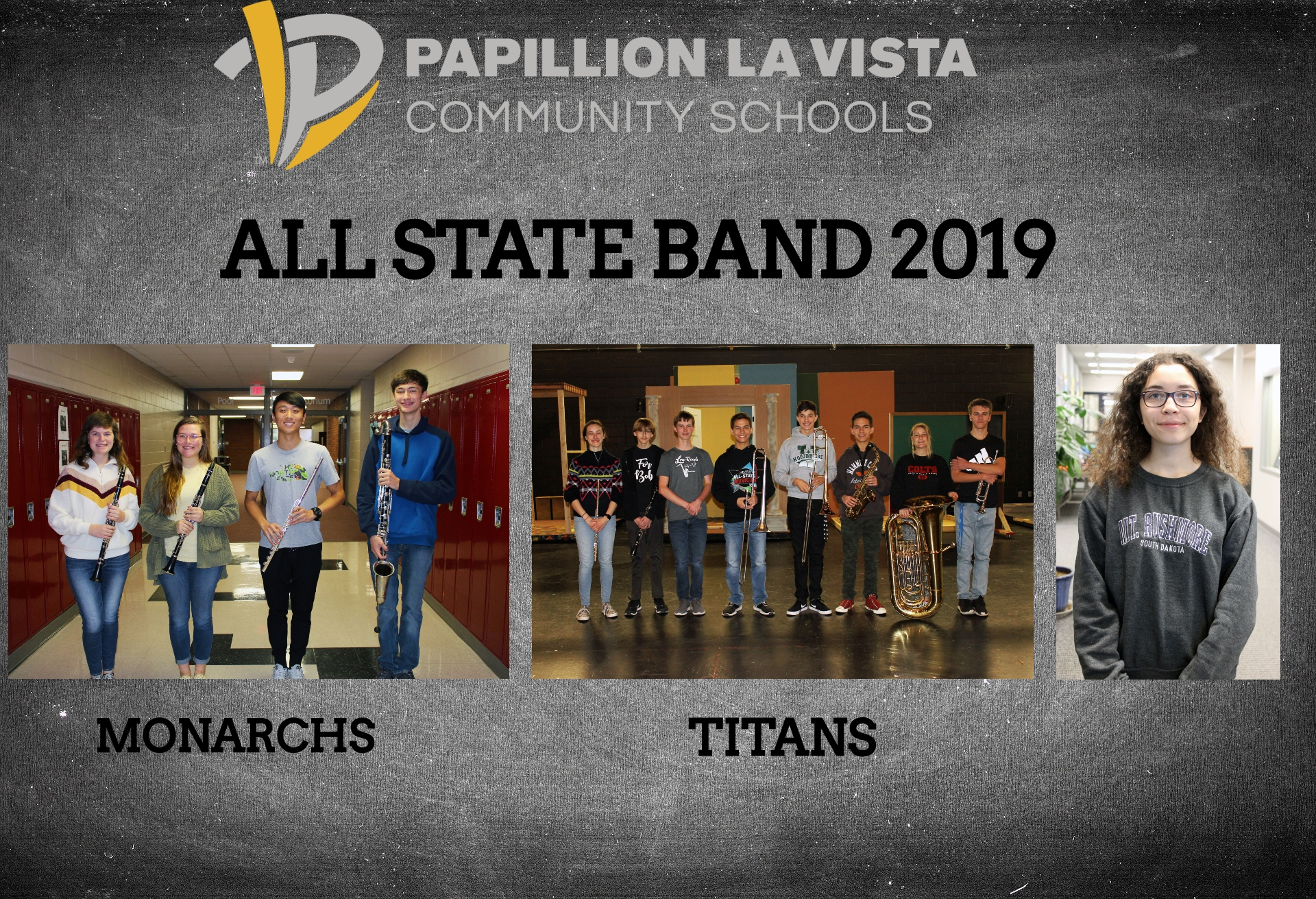 All PLCS band students selected for all state band