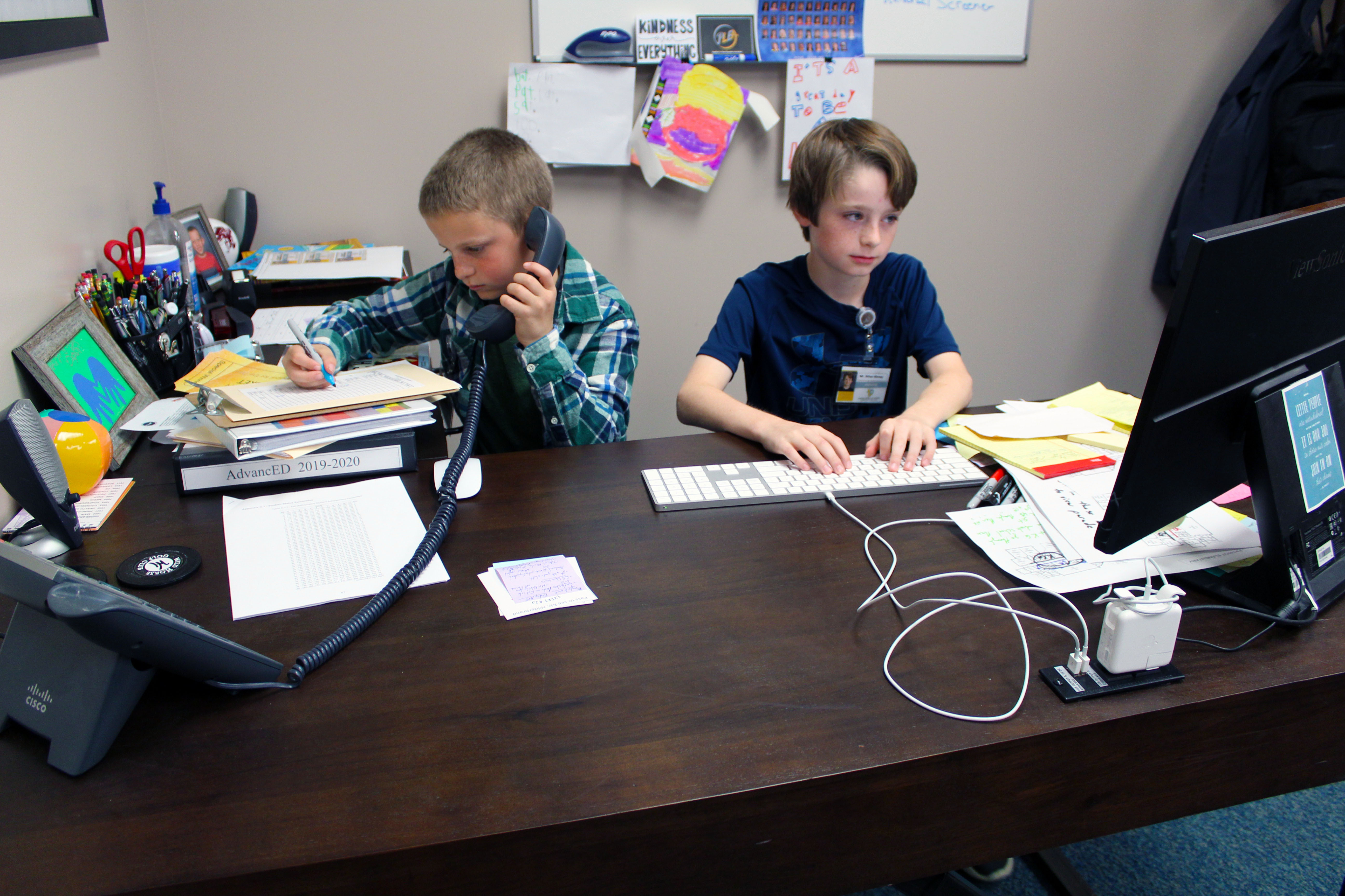 Students were selected to be principals for a day