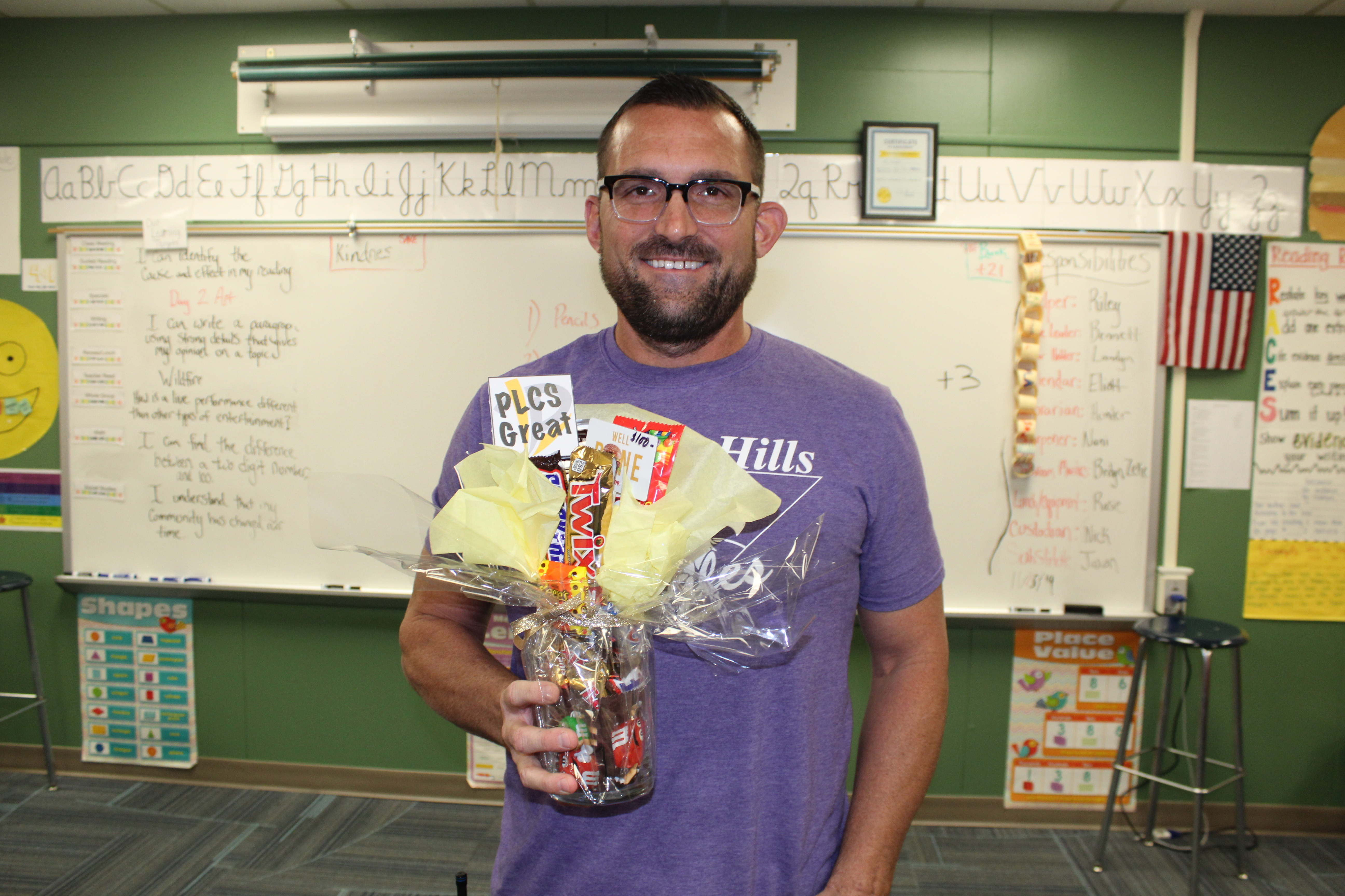 Golden Hills Elementary teacher Tim Schooley is Nov. PLCS Great Superintendent Award winner