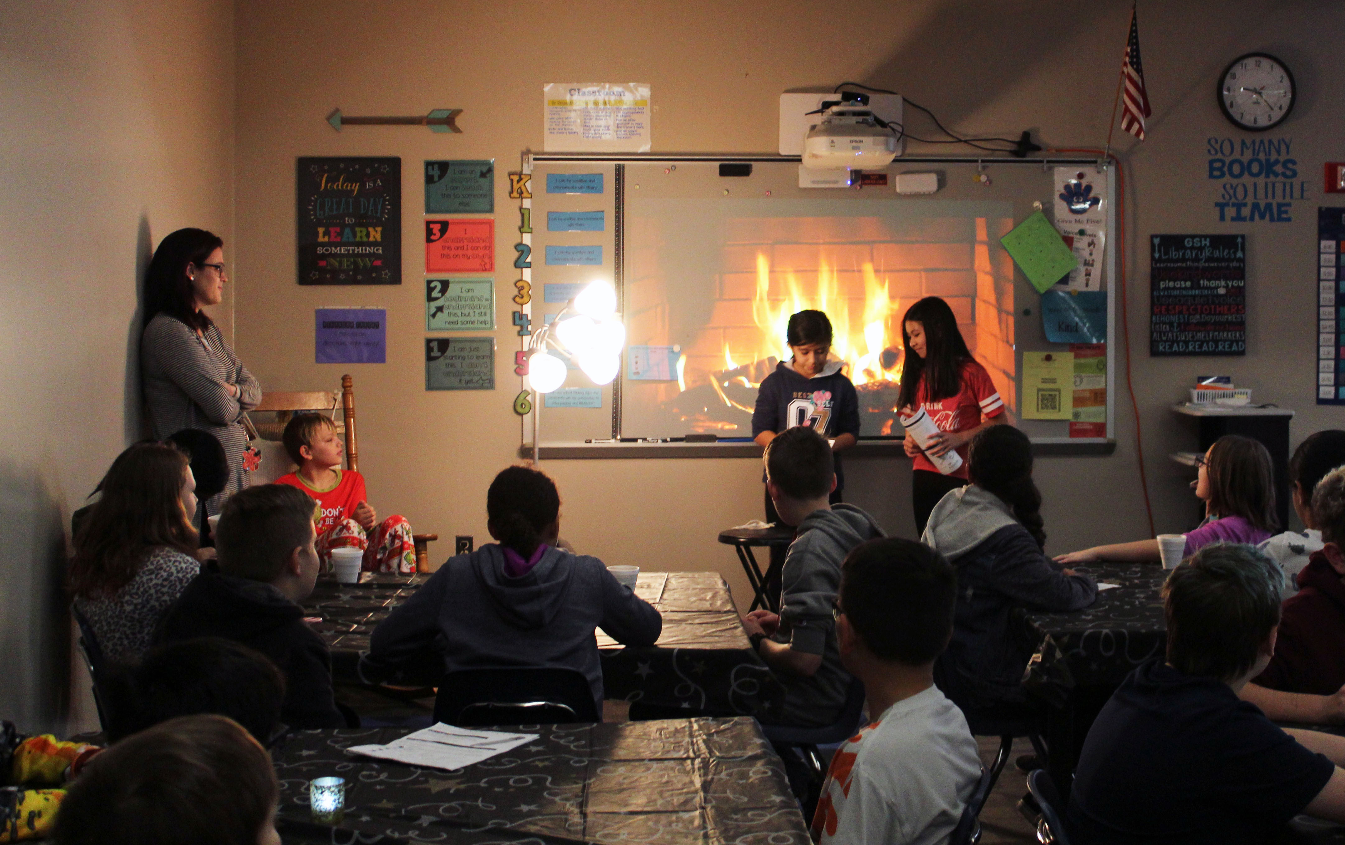 G. Stanley Hall sixth graders participate in poetry slam