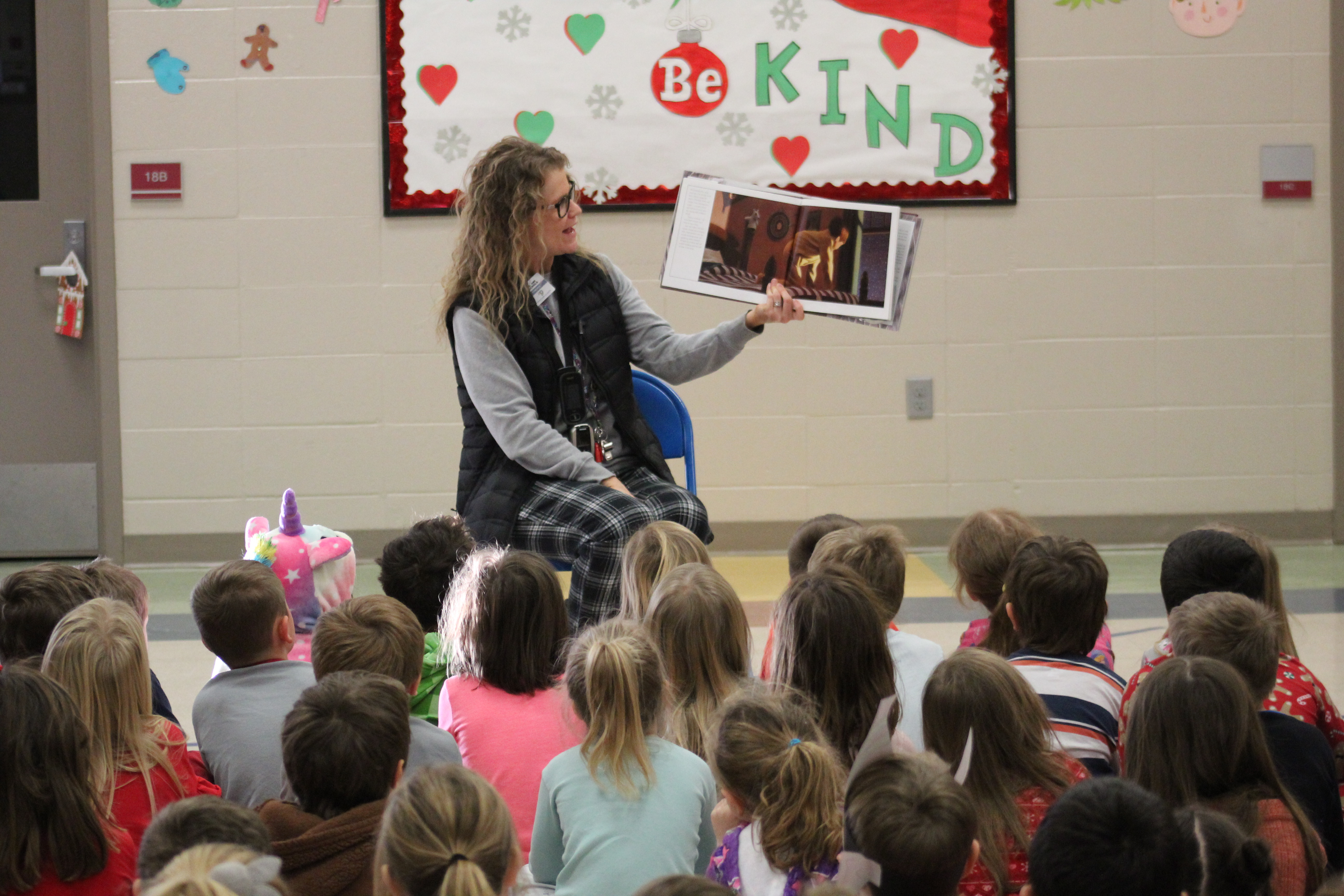 Principal read polar express to students