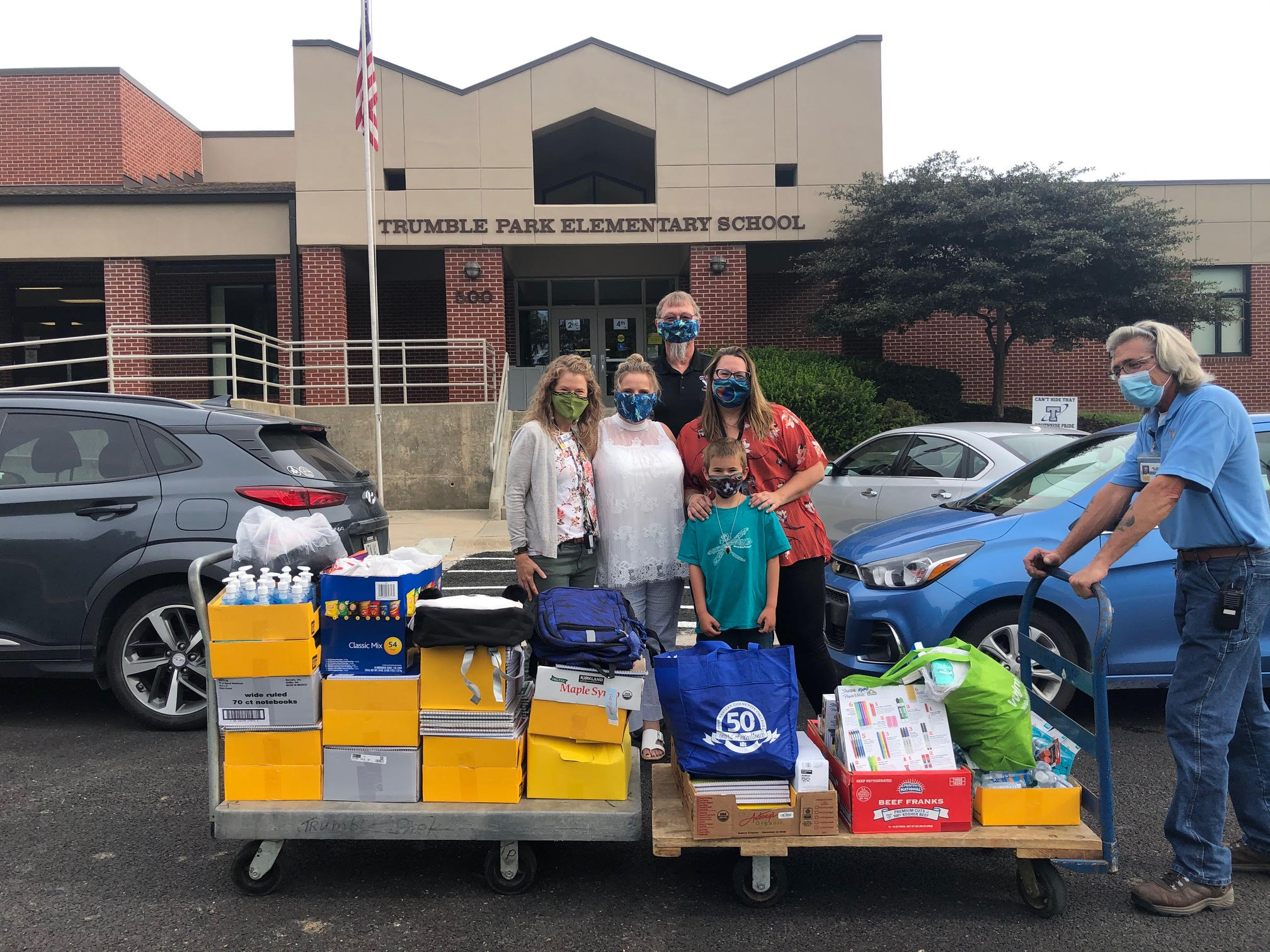 School supplies donated in honor of Abby Whitford