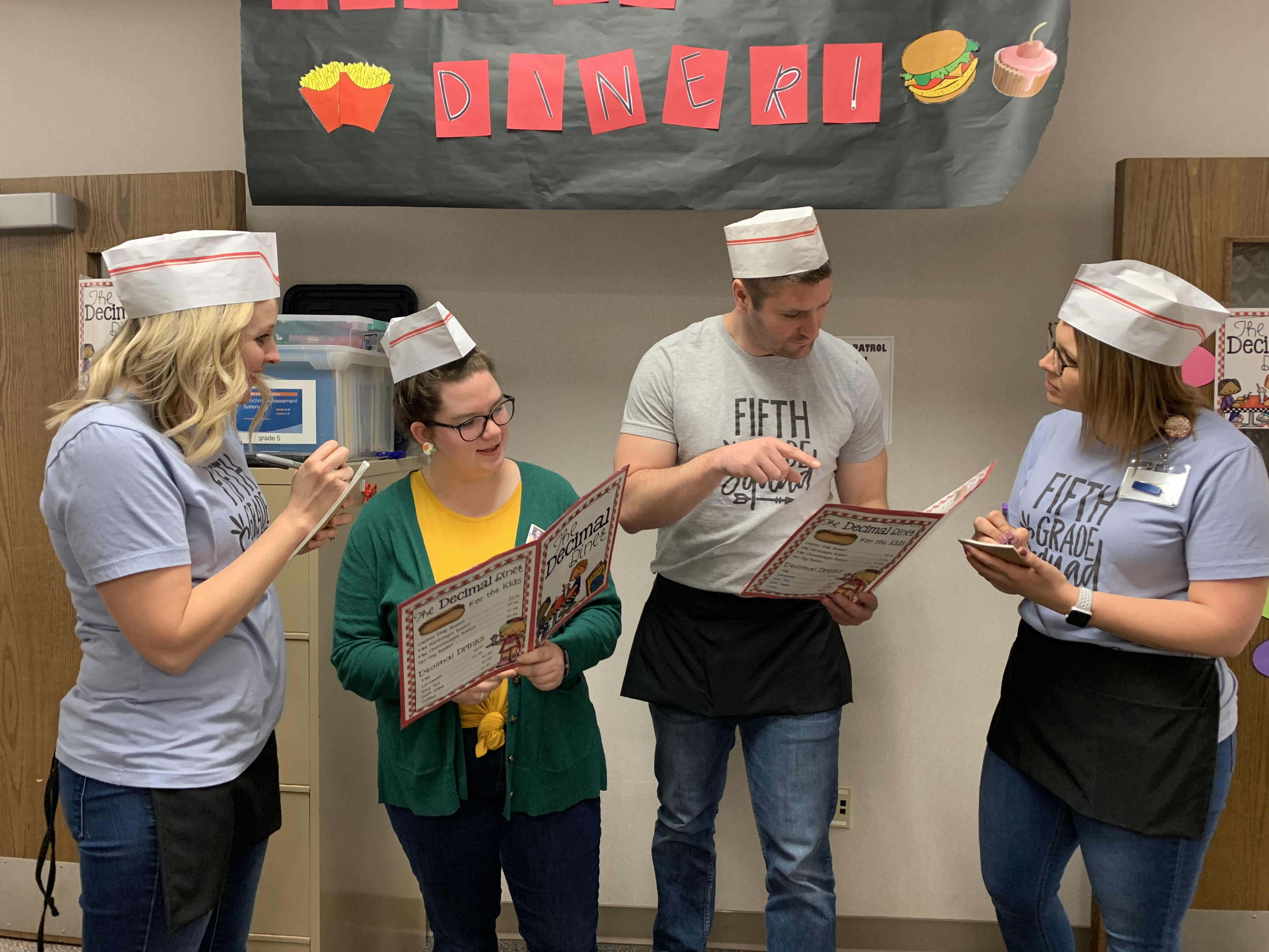 Parkview Heights Elementary 5th grade teachers open 'Decimal Diner'