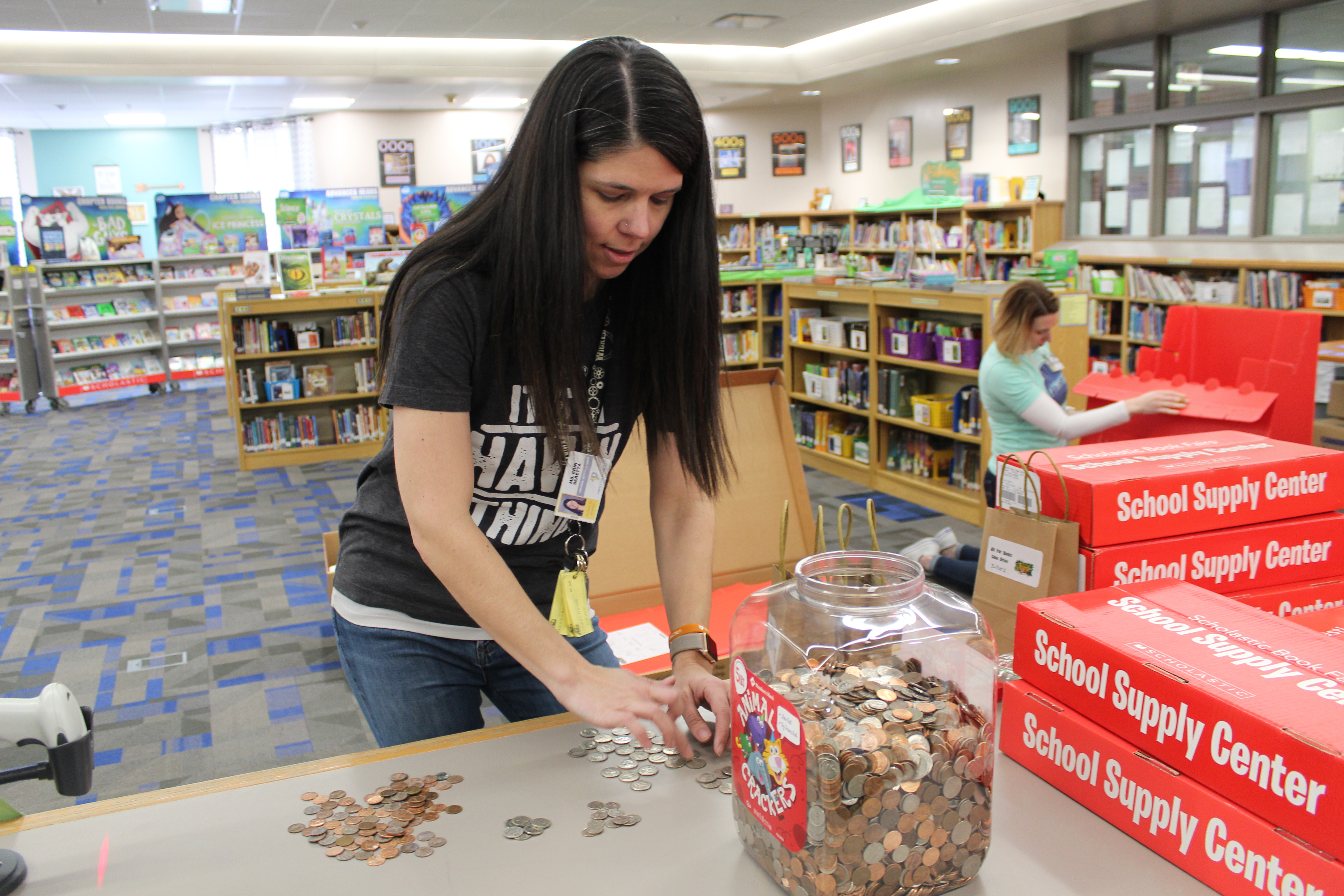 G. Stanley Hall students raise nearly $700 for 'All for the Books' coin drive