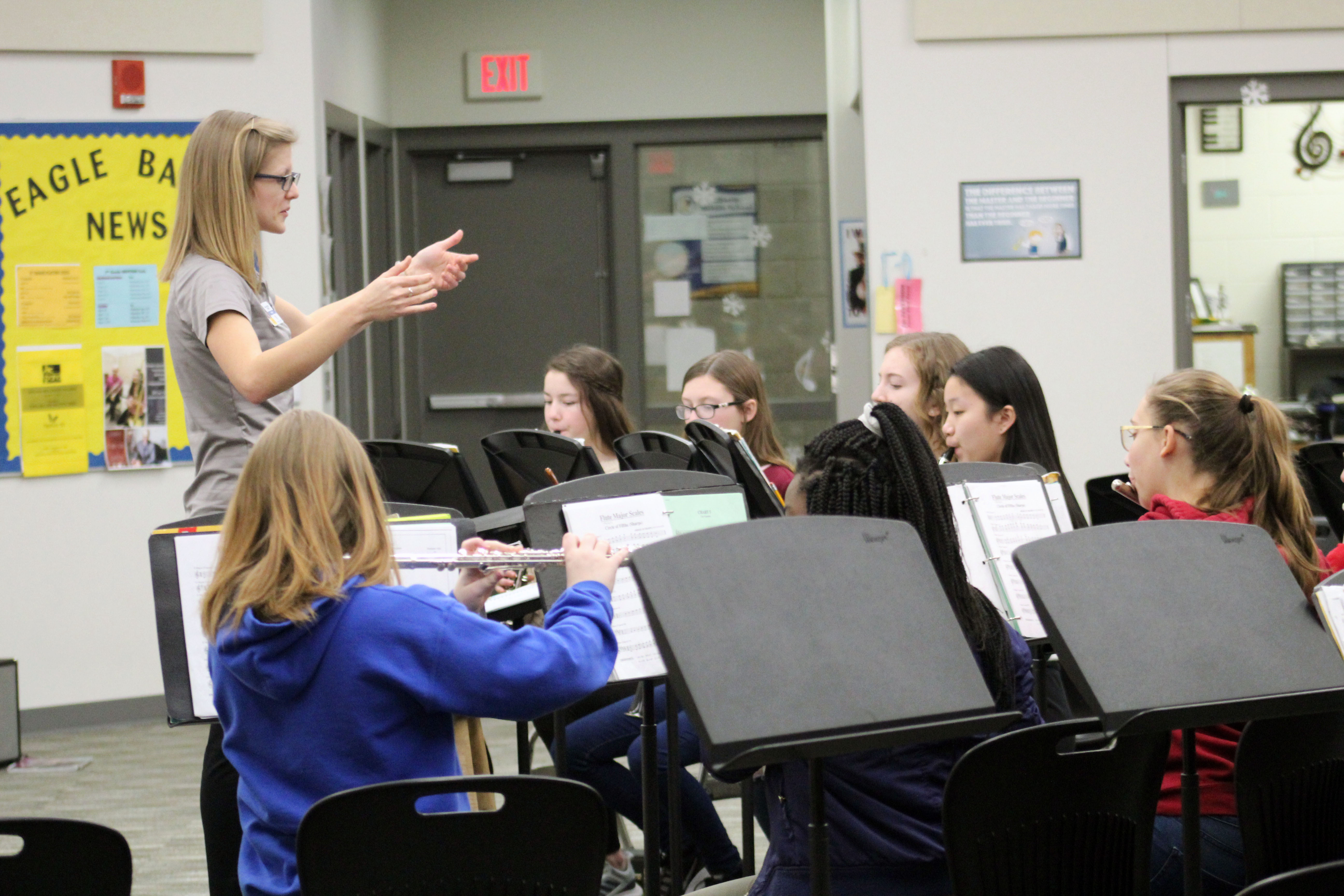 Liberty Middle School Band Director Hiltje Peitz wins state-wide award