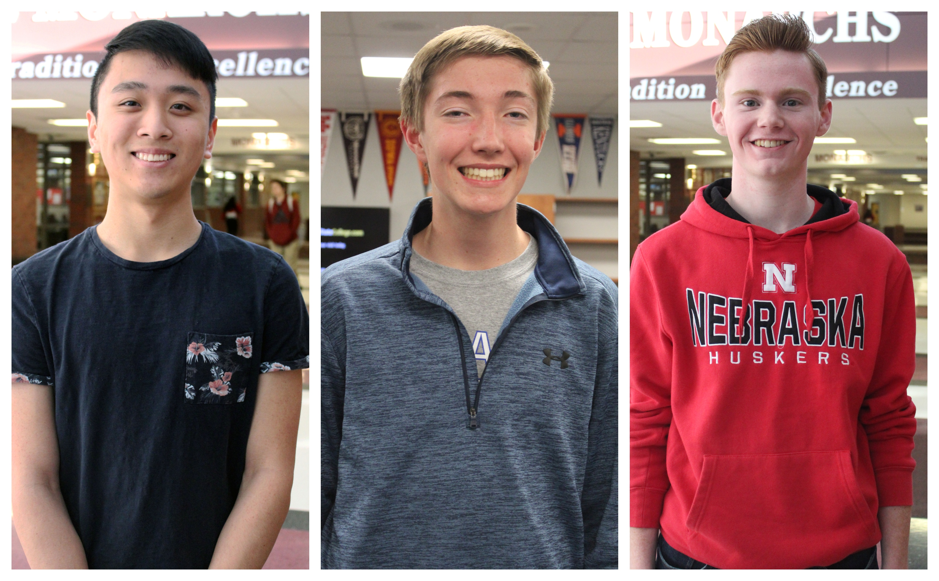 Three PLCS students named National Merit Finalists