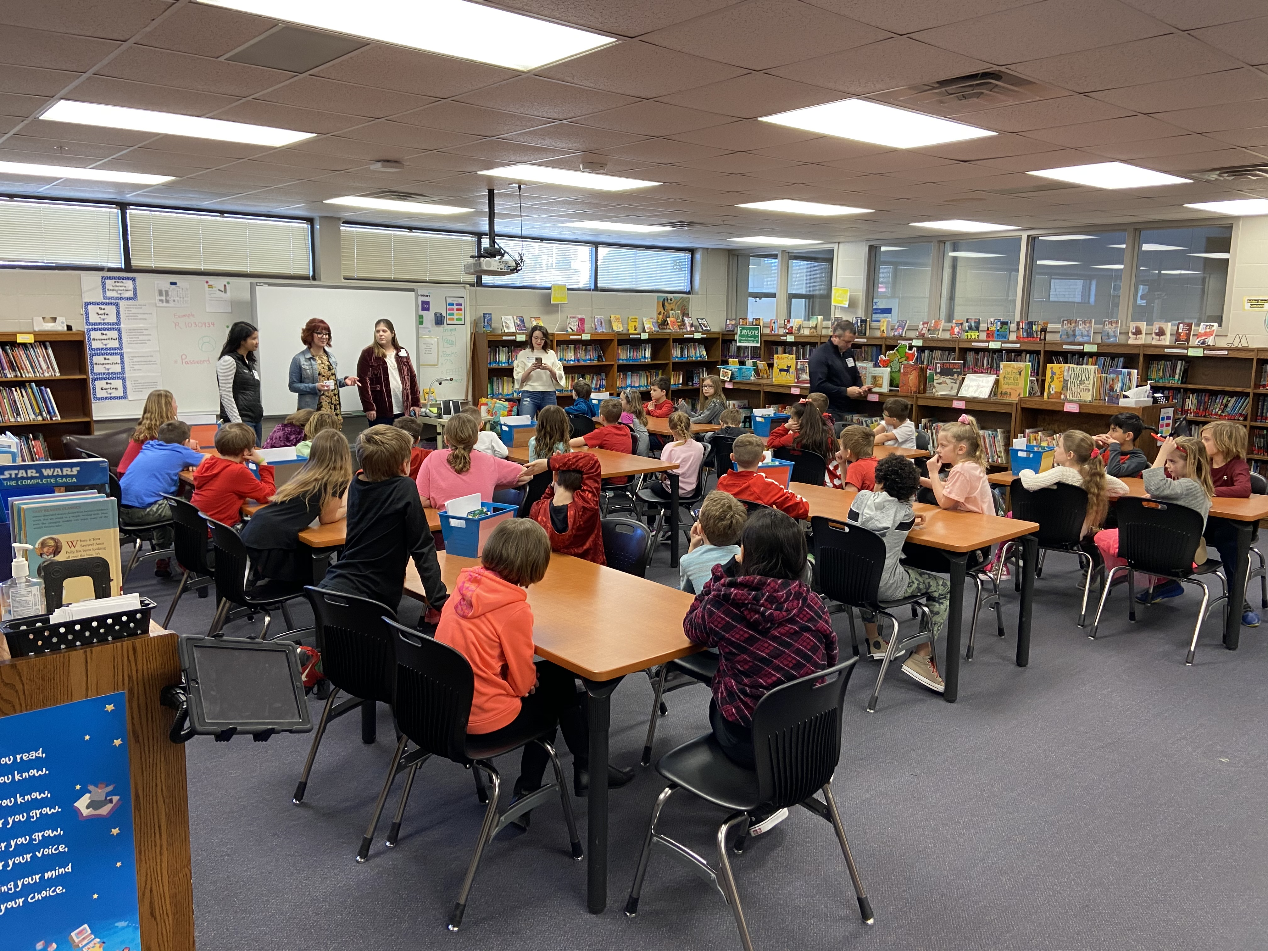 Trumble Park 3rd graders learn about marketing on Career Day