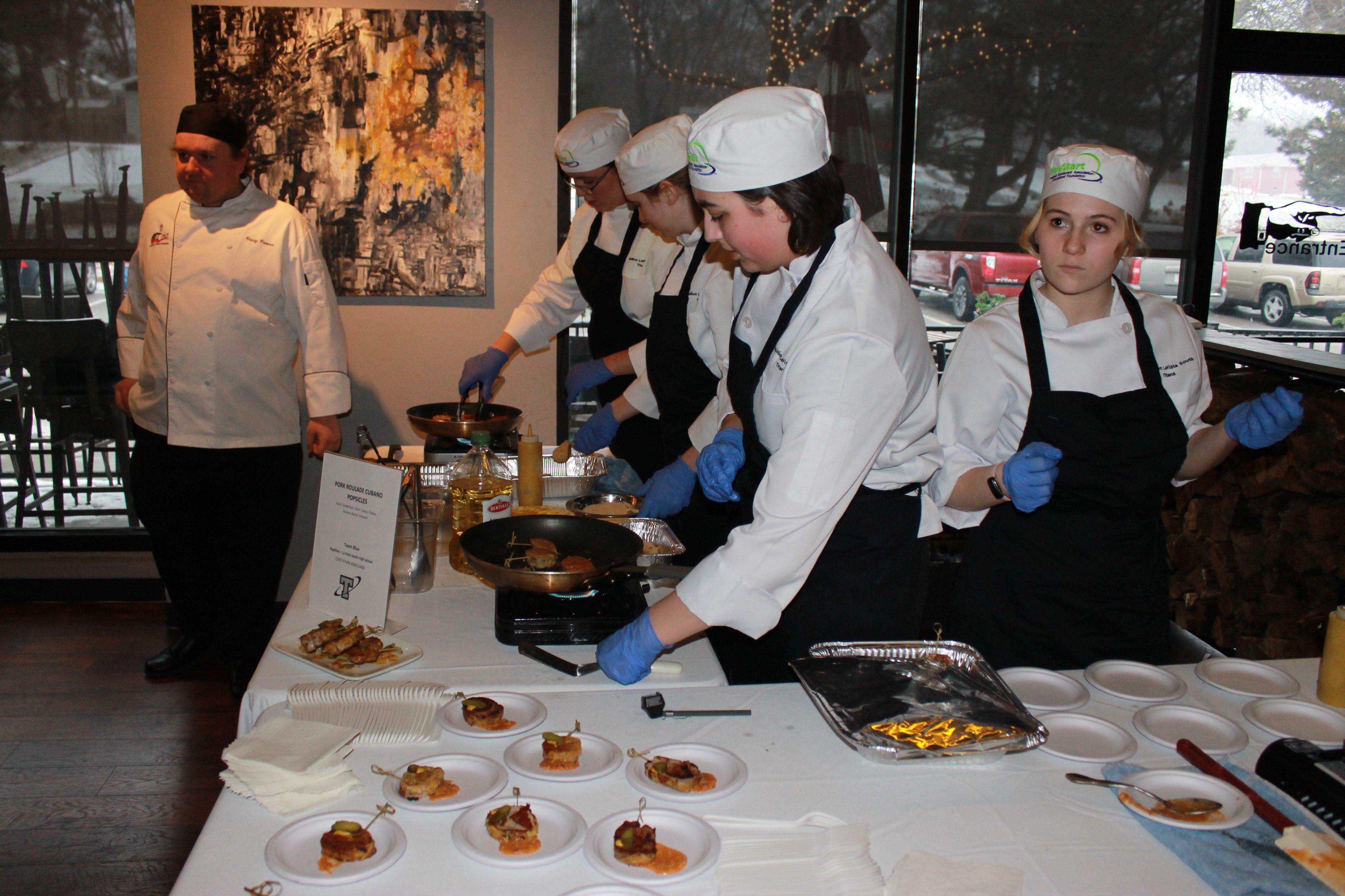prostart students work at fundraiser