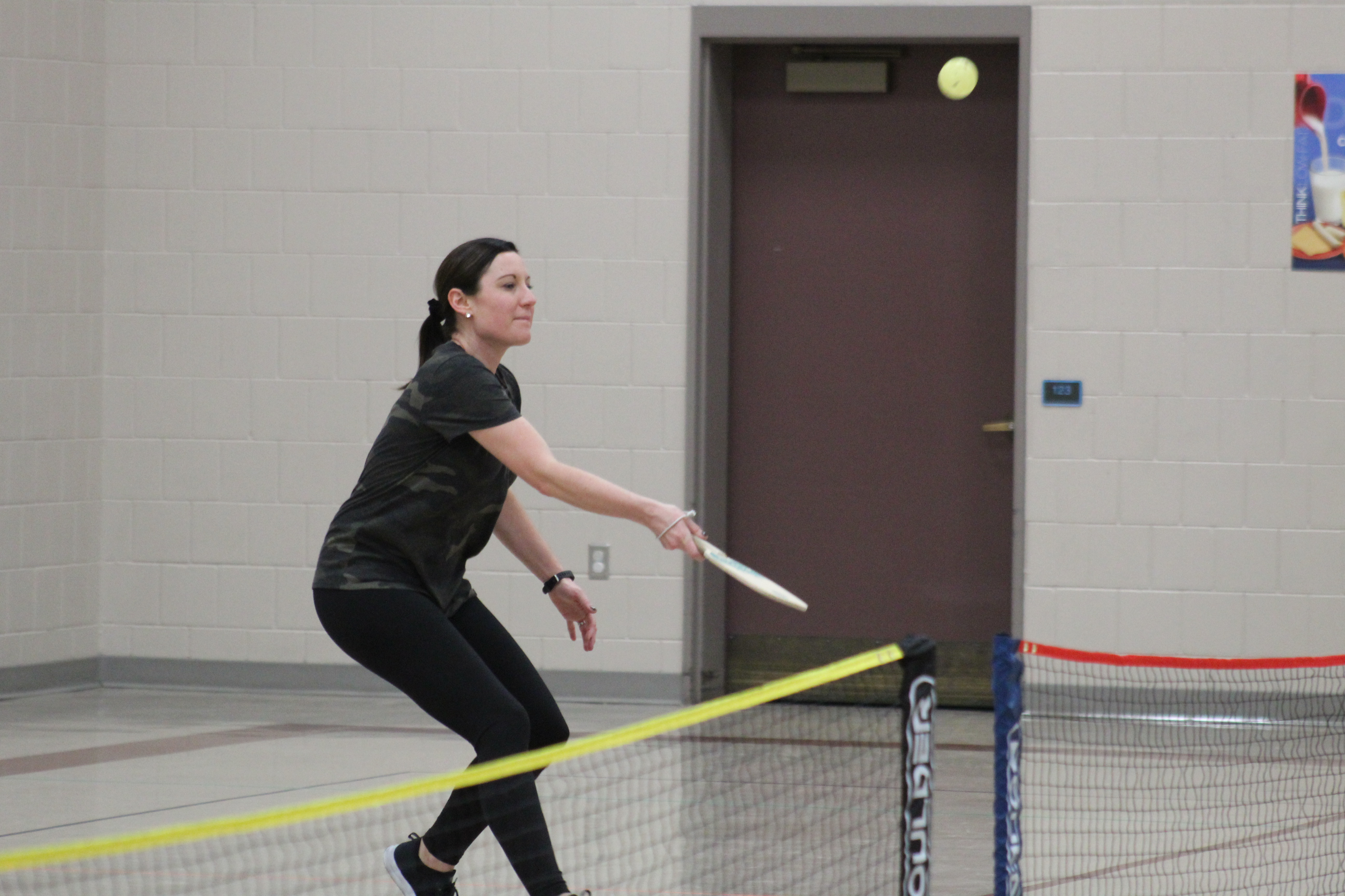 parent practices pickle ball