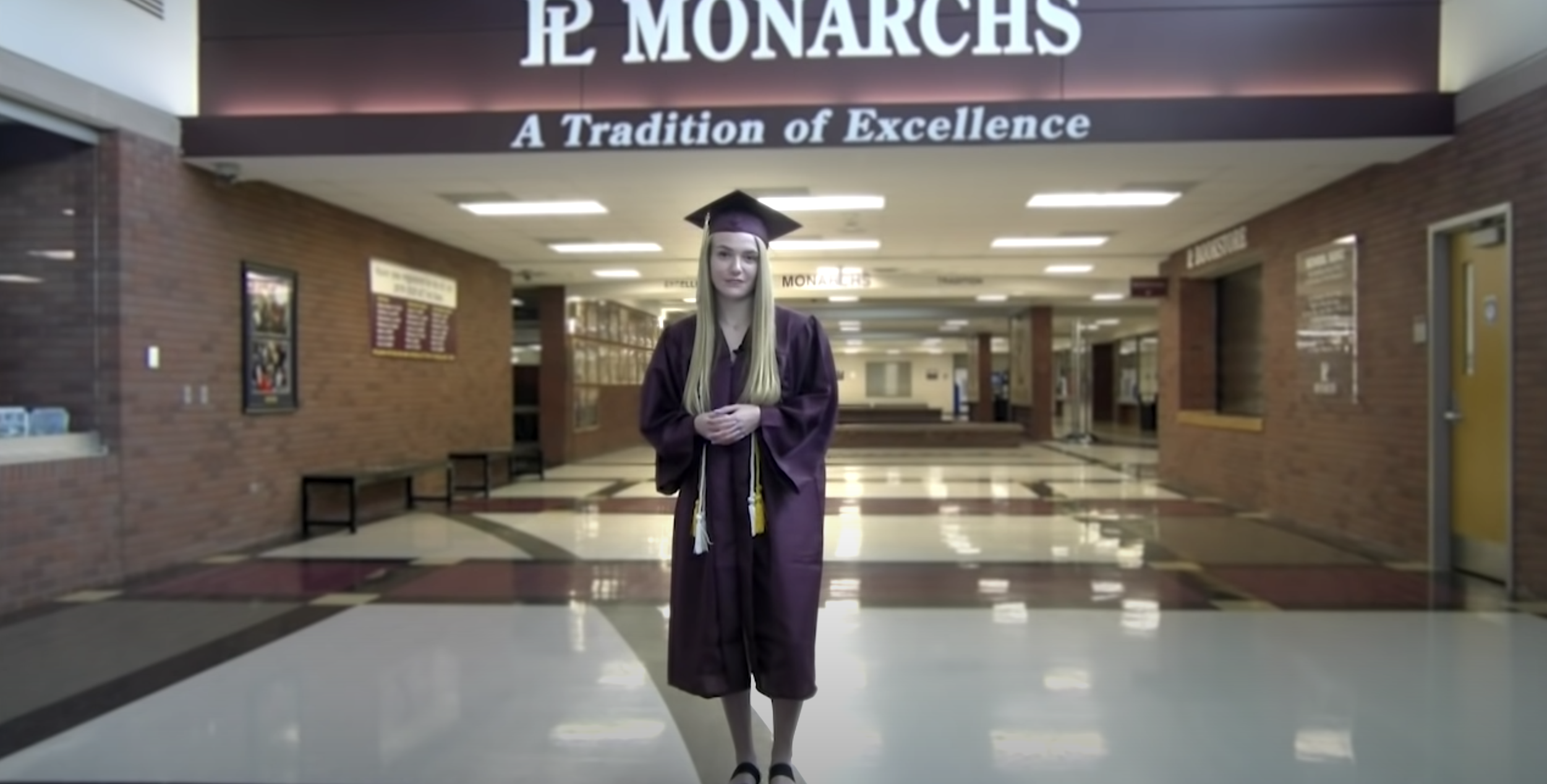 Student gives graduation speech
