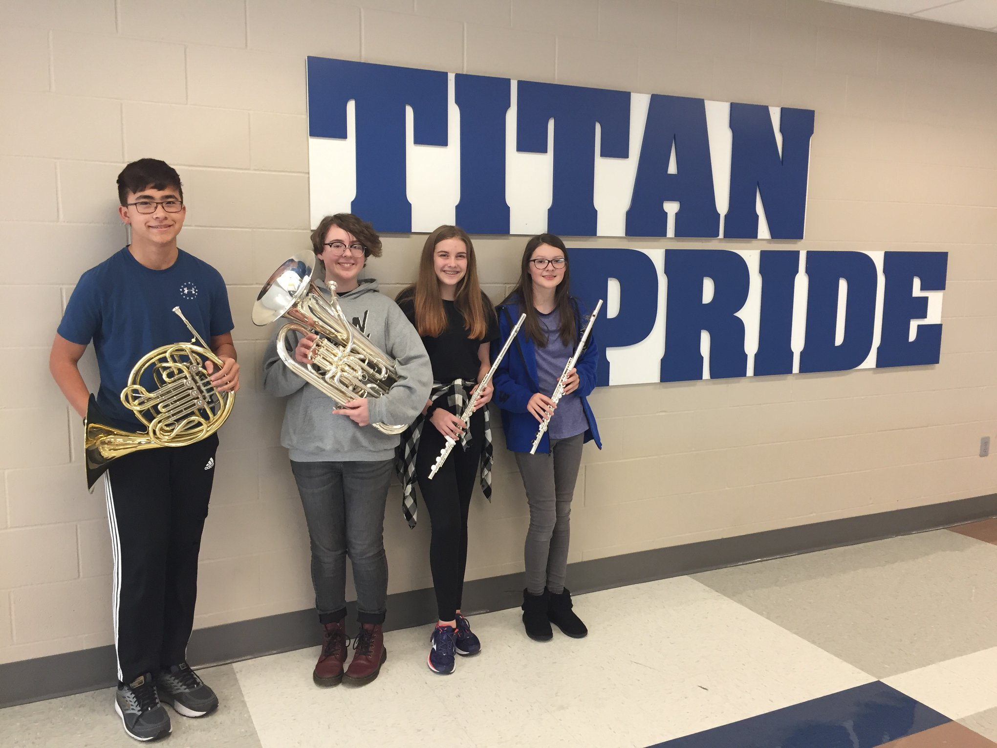 8th grade students selected for All State Band