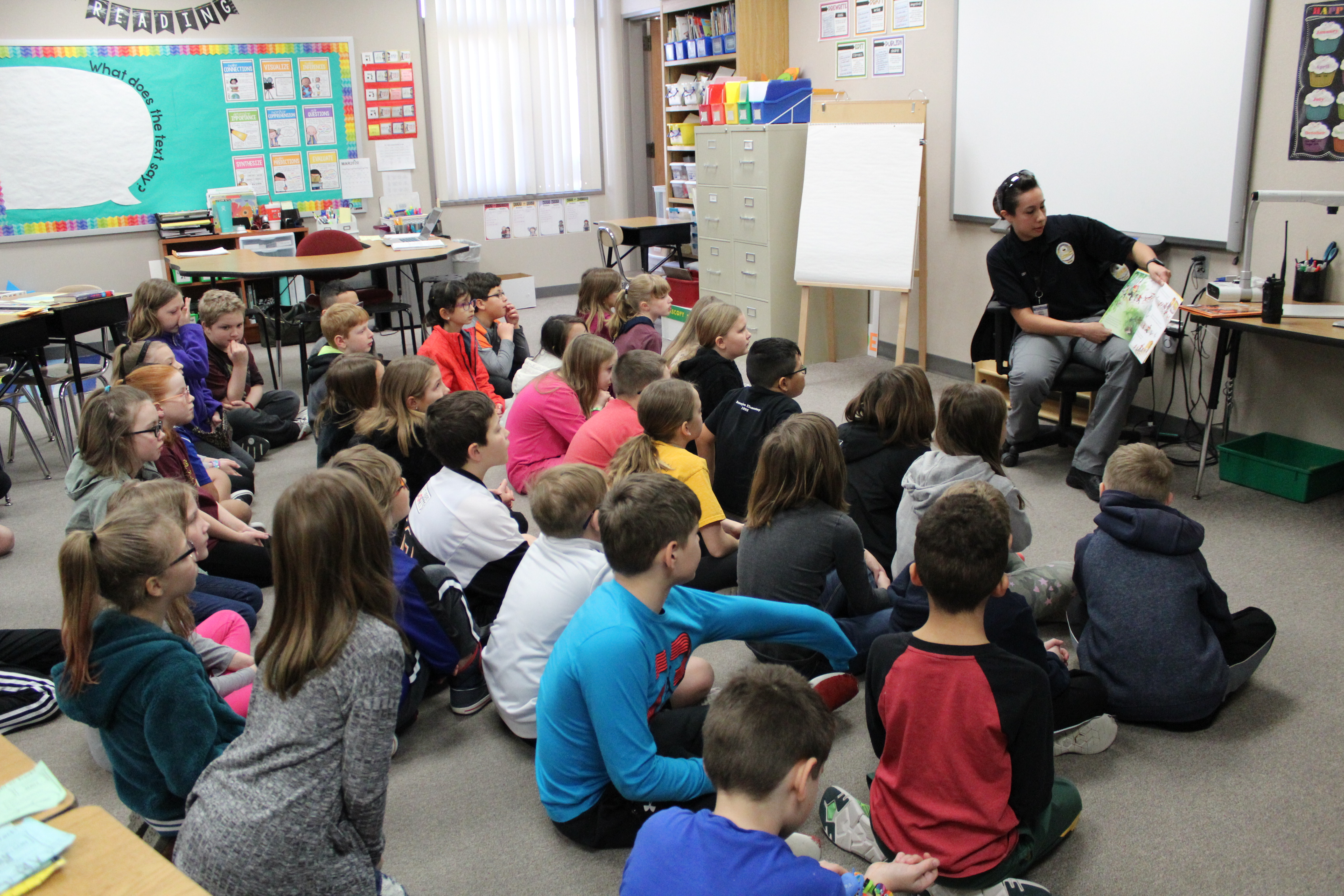 Law enforcement participated in Read Across America at Rumsey Station