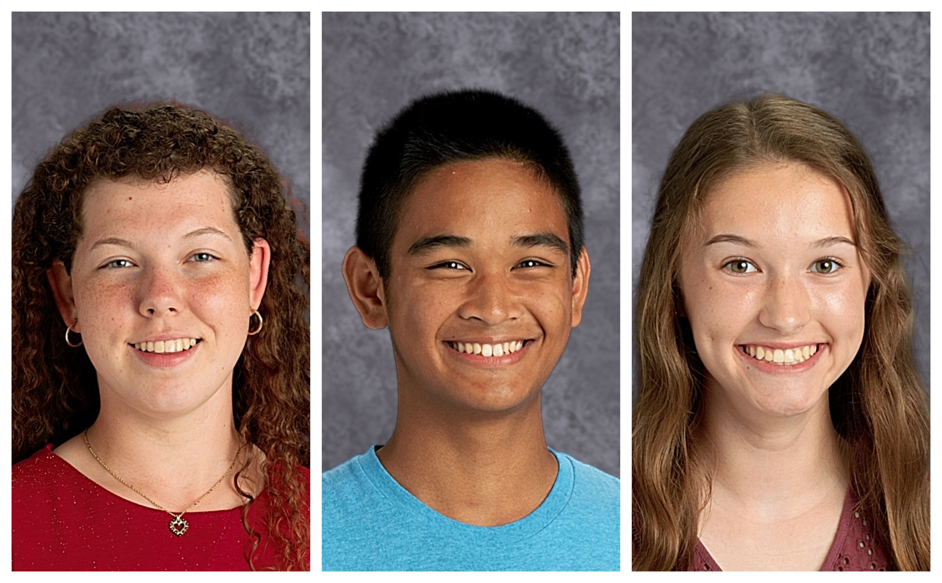 3 students chosen as National Merit Semi-Finalists, 2 as commended students