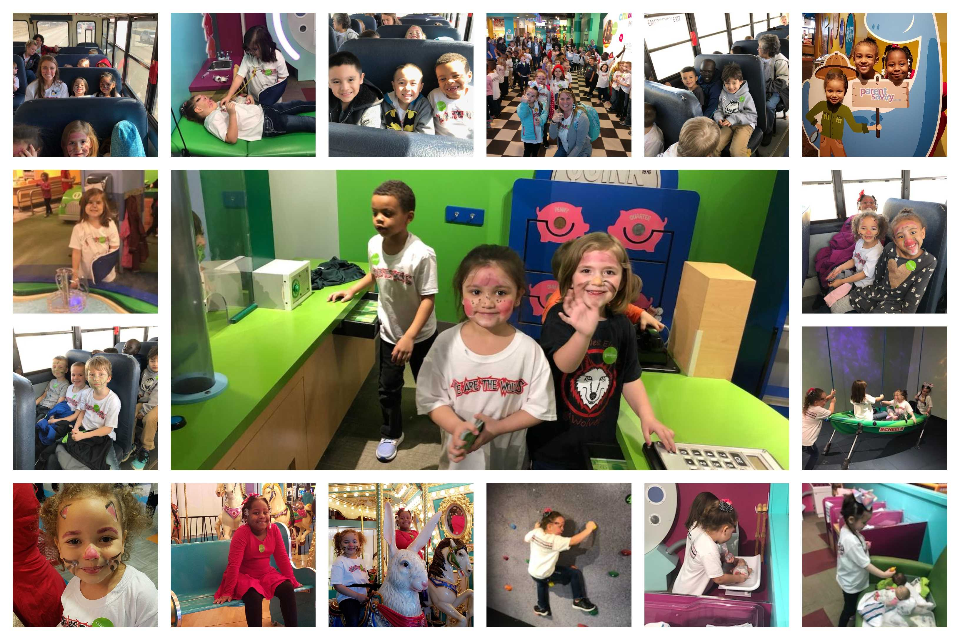 Kindergarteners enjoy a day at the Omaha Children's Museum.