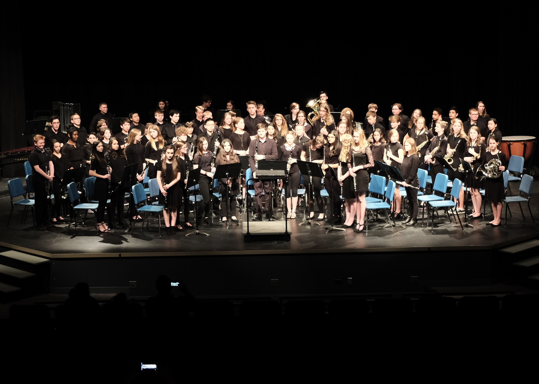 La Vista Middle School bands receive perfect scores at music contest