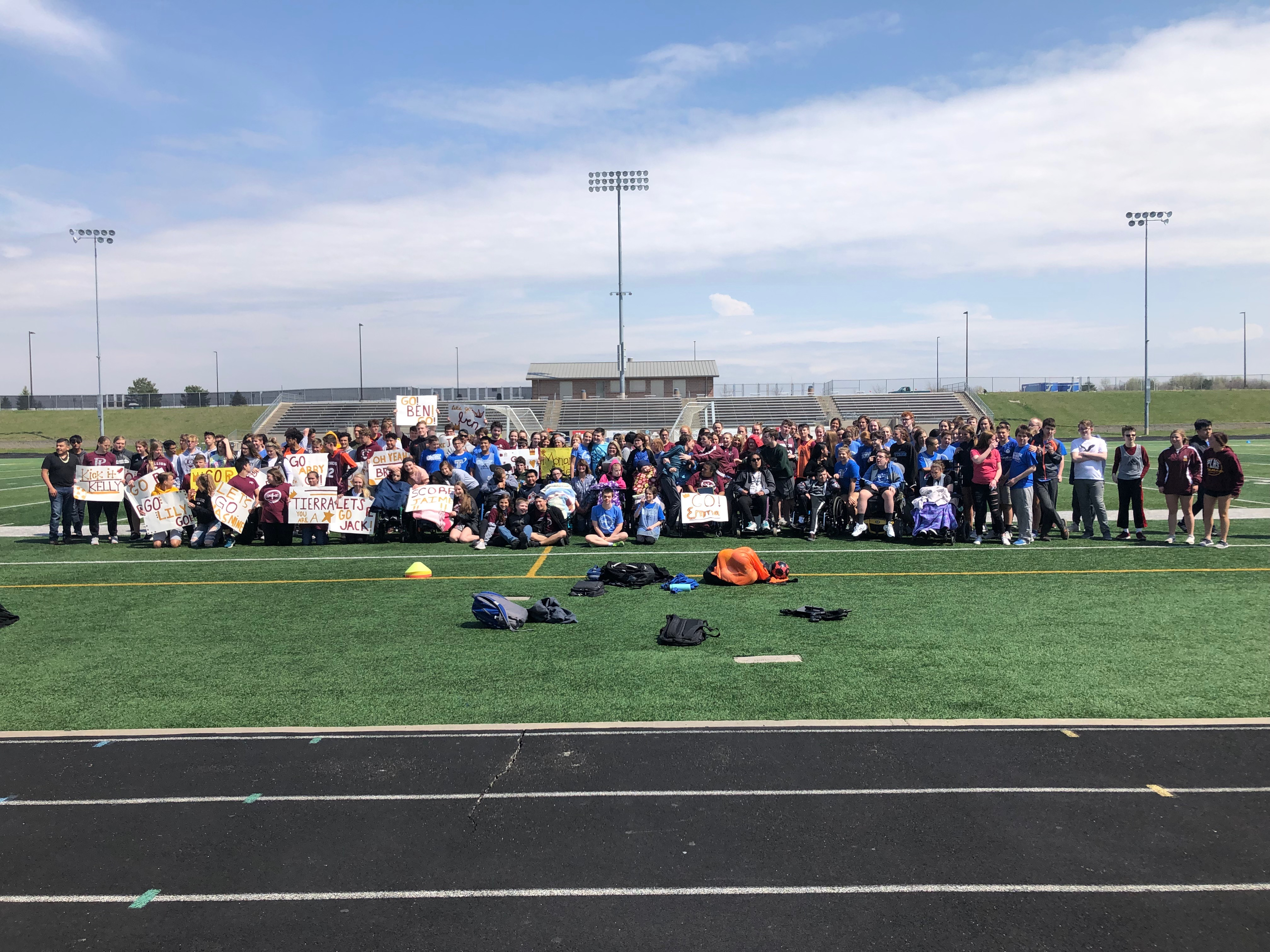 Unified Soccer teams all pose together
