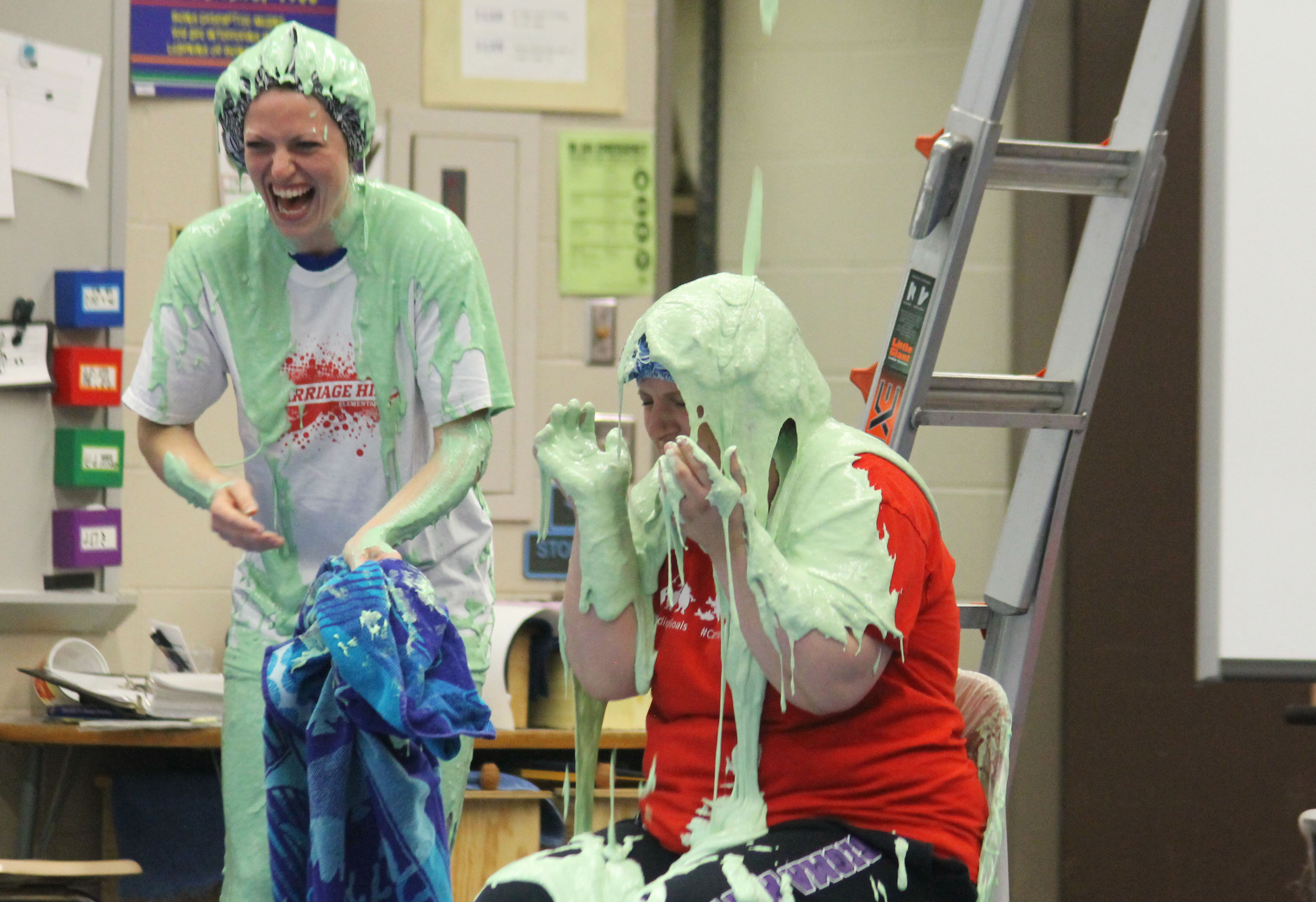 Carriage Hill Elementary teachers get slimed