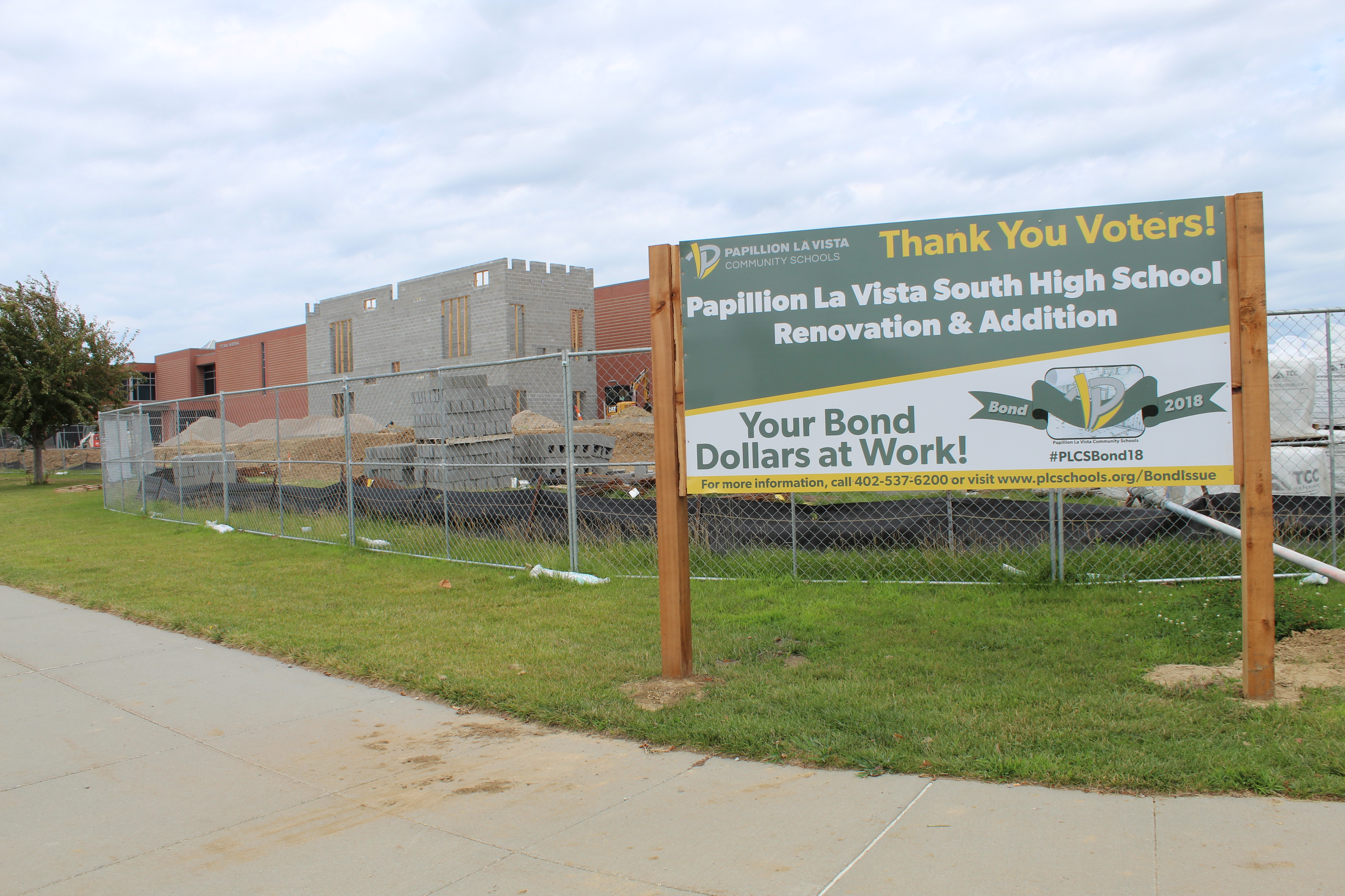 'Your bond dollars at work' signs pop up at school construction sites
