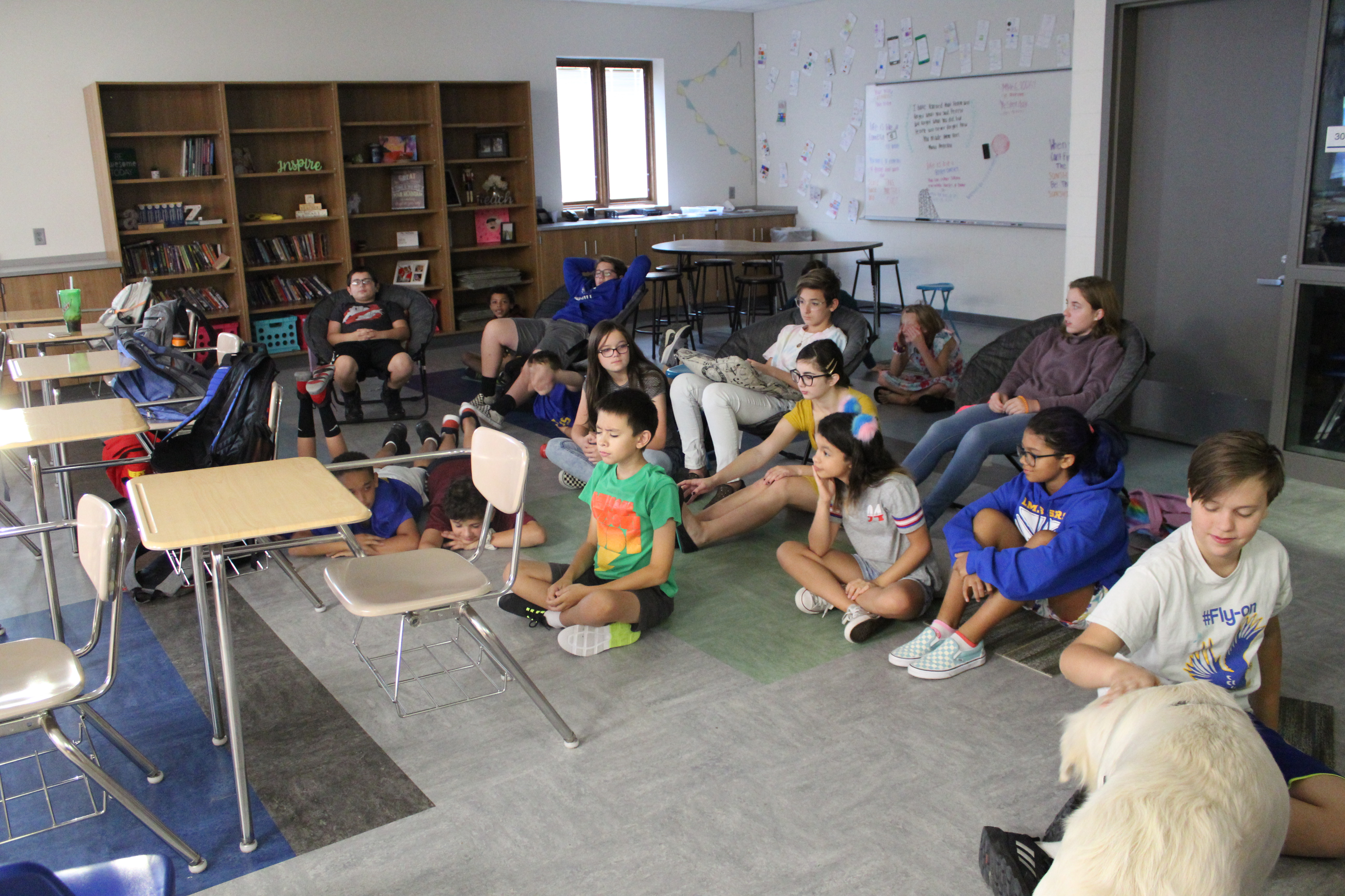 Liberty Middle School meditation club helps students start the day right