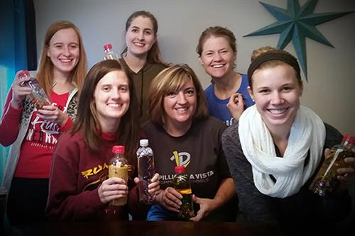 Papillion La Vista Community Schools teachers in the CADRE Project made bottles.