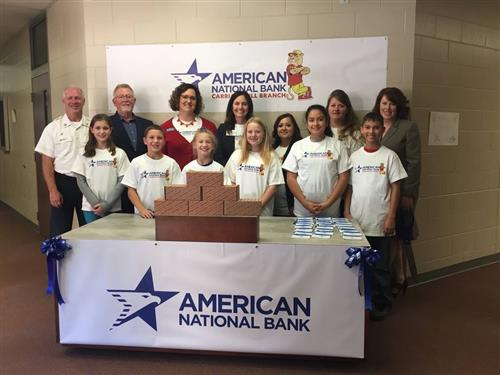 Carriage Hill celebrates American National bank branch opening.