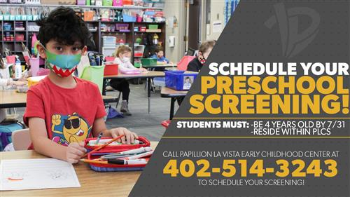 Schedule your preschool screening today!