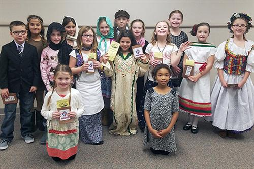 Walnut Creek Elementary School third-graders dressed up as immigrants from the early 20th century