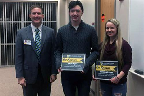 Two PLHS students were honored for being selected to perform the national anthem.