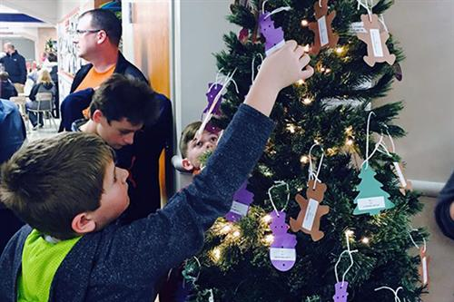 Patriot Elementary's Giving Tree Project helped collect gifts for five families