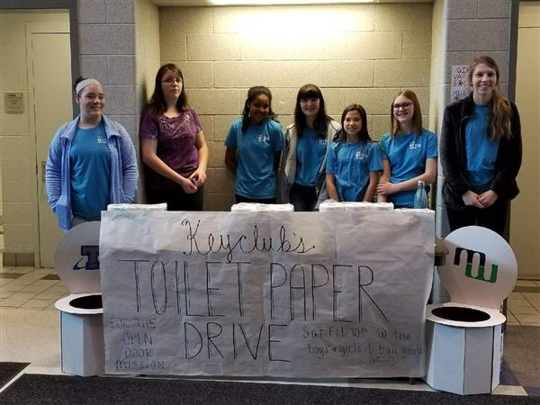 PLSHS Titan Key Club during toilet paper drive.jpg
