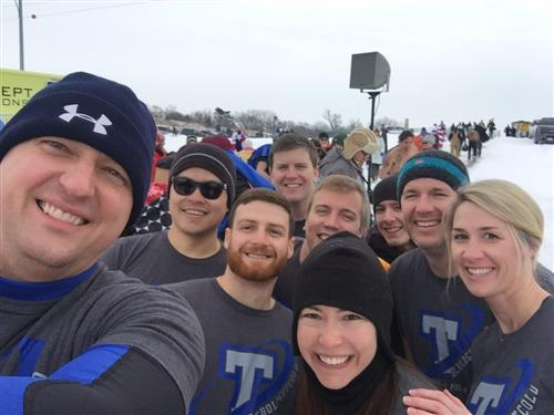 Teachers and students from PLSHS attend the 2018 Polar Plunge.