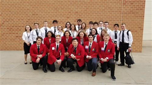 The Papillion La Vista South High School SkillsUSA team poses for a photo at the state tournament.