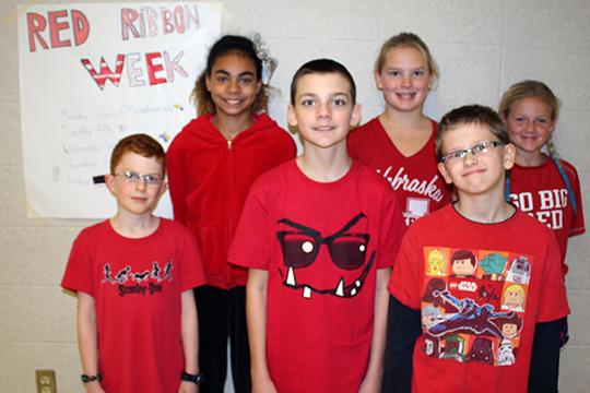 On Friday, Oct. 28, students at Carriage Hill wore red for Red Ribbon Week.