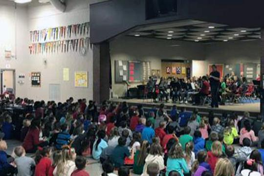Students at Rumsey Station sing along to holiday songs on Dec. 20