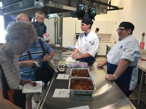 Papillion La Vista South ProStart students present their culinary creations at the NE State Fair.
