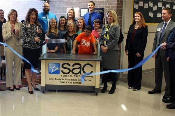 The Sarpy County Chamber of Commerce held a ribbon-cutting ceremony for SAC Federal Credit Union.