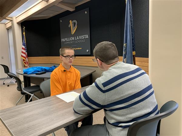 YATP students participate in mock interviews.