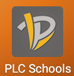 PLCS parent app icon.  This has the Papillion La Vista Logo in a grey square with PLC Schools listed below the square